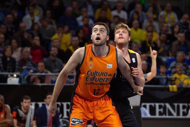 Fútbol.- El Valencia Basket pierde a Tobey para los dos últimos partidos de liga regular
