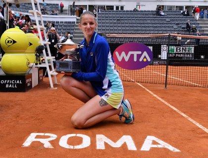 Pliskova escala al número dos tras vencer en Roma y Serena Williams vuelve al 'Top 10'
