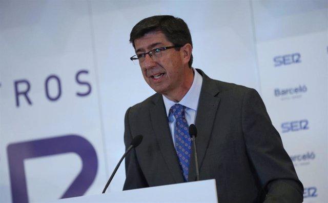 """Juan Marín avisa a Pedro Sánchez de que """"no es posible rehuir más"""" el debate de la financiación y urge convocar el CPFF"""