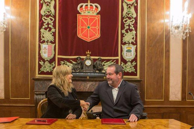 Gobierno y Fundación Caja Navarra impulsarán proyectos para apoyar la retención y el retorno del talento a Navarra