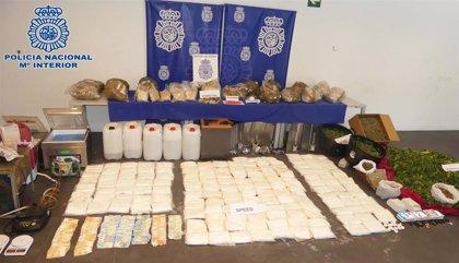 La Policía Nacional detiene a 12 personas e interviene 337 kilos de drogas sintéticas