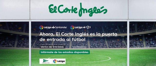 Fútbol.- Getafe, Albacete, Elche y Nástic venderán también sus entradas en El Corte Inglés
