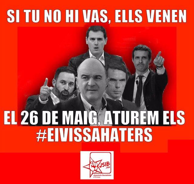 Joventuts Socialistes d'Eivissa llancen una campanya sobre la importància de votar i evitar els governs de dretes