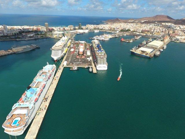 El Puerto de Las Palmas licita 37,8 millones en obras hasta mayo, un 95% más