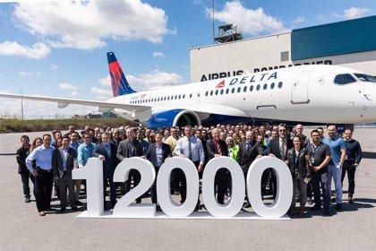 Airbus celebra la entrega de su avión número 12.000 a Delta Air Lines