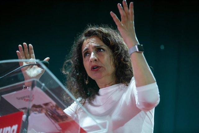María Jesús Montero, en un acto de partido en Osuna (Sevilla)