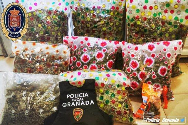 Granada.- Sucesos.- Dos detenidos con más de 25 kilos de marihuana en El Fargue