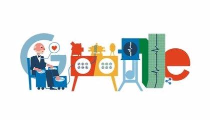 Google homenajea en su 'doodle' a Willem Einthoven, Premio Nobel de Medicina por su aporte en el análisis cardiológico