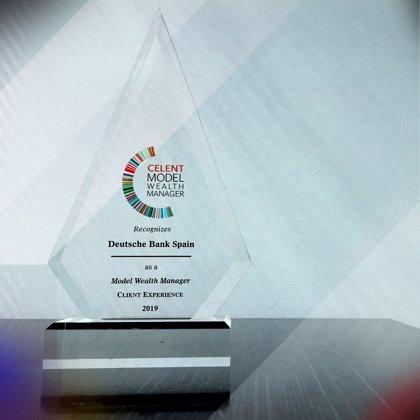 Deutsche Bank España recibe el premio Celent Model Wealth Manager 2019 por su información a inversores