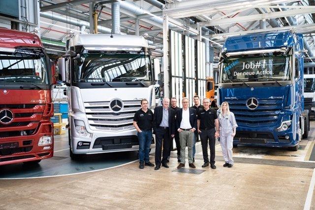 Economía/Motor.- Mercedes-Benz inicia la producción del nuevo Actros en Wörth (Alemania)