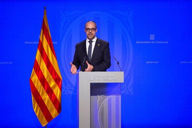 Rueda de prensa del Gobierno de Cataluña tras la celebración del Consejo Ejecutivo