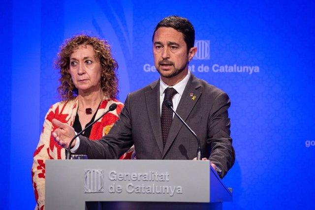 Roda de premsa després del Consell Executiu de la Generalitat