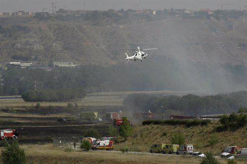 Imagen del accidente de Spanair en Barajas