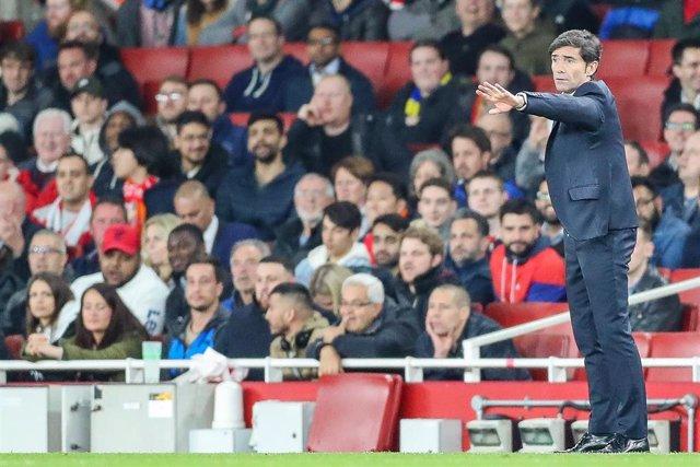 """Fútbol/Liga Europa.- Marcelino: """"Tenemos el convencimiento de que podemos ganar al Arsenal"""""""