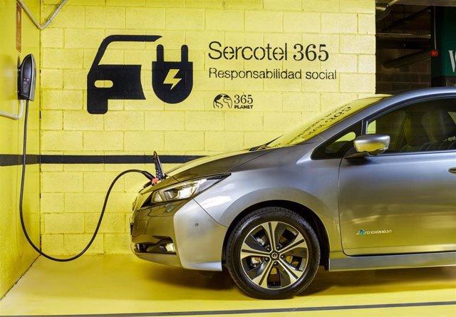 Sercotel incorpora puntos de recarga parea coches eléctricos en sus hoteles