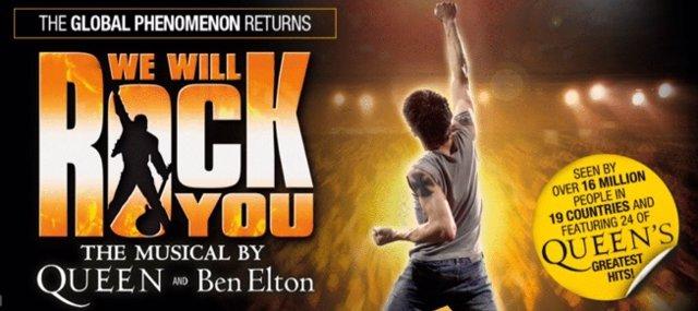 El musical We Will Rock You de Queen volverá a Madrid en 2020