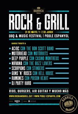 El Poble Espanyol celebrarà el festival de rock i barbacoa Barrica Rock&Grill des del 31 de maig