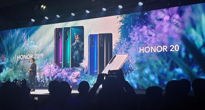 """Economía.- Honor (Huawei) recomienda """"prudencia"""" y mantiene la puesta a la venta del Honor 20 desde junio en España"""