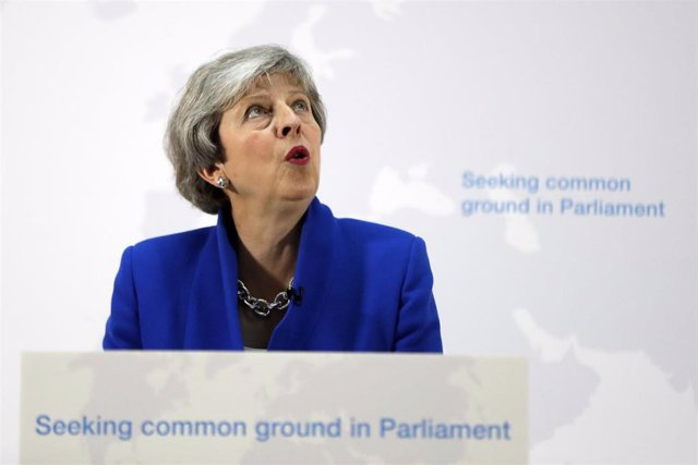 UK Prime Minister delivers a statement in London
