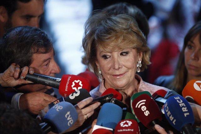 26M.- Aguirre destaca que el 28A hubo mayoría de derechas en Madrid y no cree que en tres semanas cambie