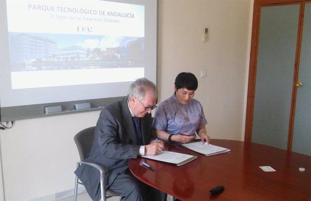 Málaga.- El PTA firma un acuerdo de colaboración con la empresa china Z-Run WellTon