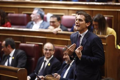 """Rivera: """"Si Batet fos una presidenta decent hauria aturat l'acatament dels diputats presos"""" (Eduardo Parra - Europa Press)"""
