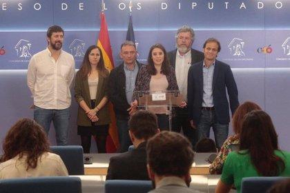 Unidas Podemos se plantea votar en contra en el Congreso de suspender a los diputados presos