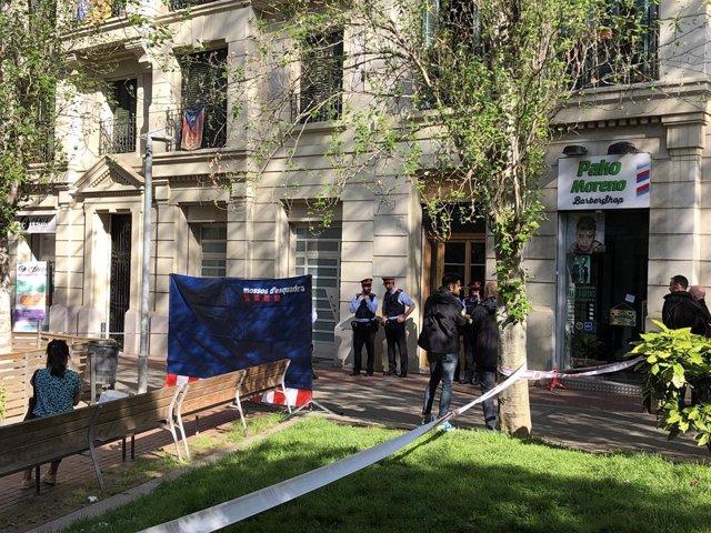 AMP.- Investiguen la mort d'una dona a Barcelona