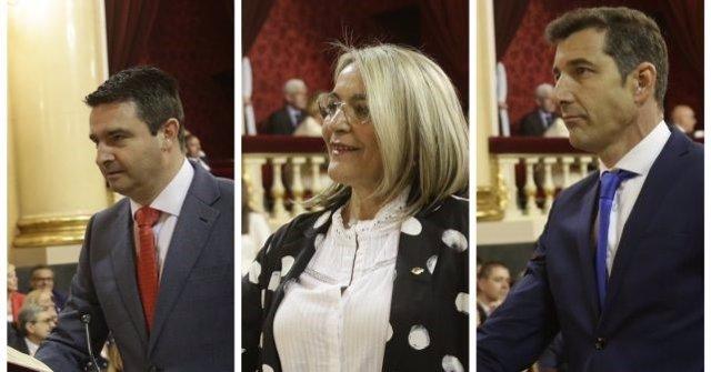 Huelva.- Los socialistas Amaro Huelva, Josefa González Bayo y Jesús González adquieren su condición plena de senadores