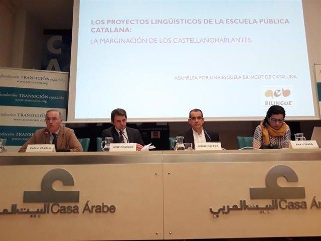 """La Asamblea por una Escuela Bilingüe (AEB) afirma que """"ninguna"""" escuela pública catalana cumple con el 25% de castellano"""