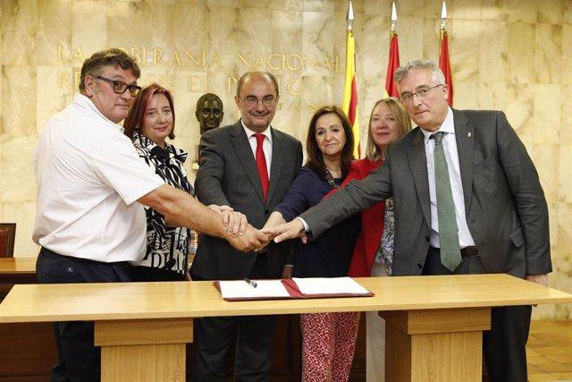 """Zaragoza.- Fuentes de Ebro creará 1.800 hectáreas de regadío para cambiar """"de arriba a abajo"""" el futuro de su economía"""