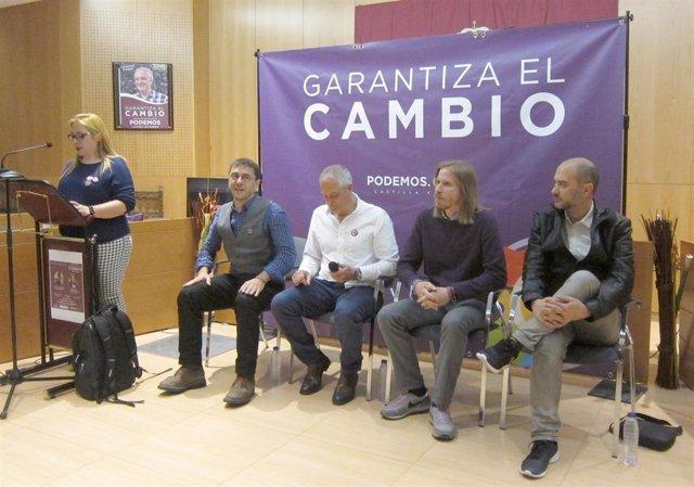 """26M.- Fernández (Podemos), Preocupado Por Que El PSOE No """"Descarte"""" Un Pacto Con Cs Que Cada Día Parece Más Cierto"""