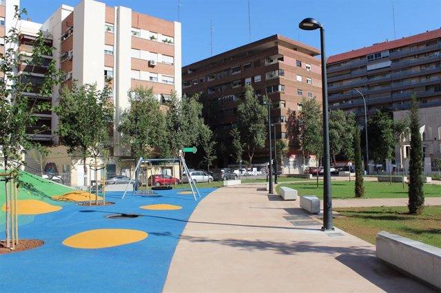 Valencia.- Las obras del nuevo jardín de Rubén Darío finalizan este jueves