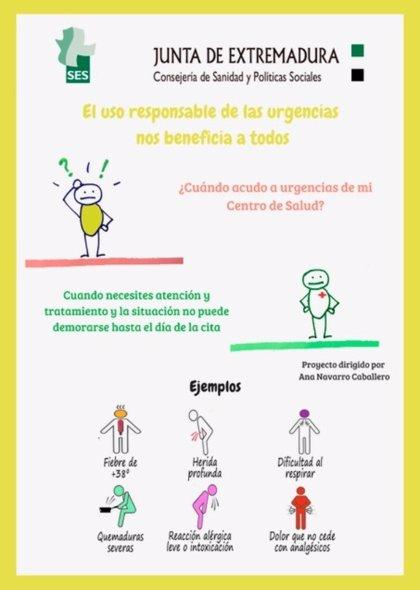 Una campaña incidirá en el uso responsable de las urgencias sanitarias en varias localidades de Badajoz