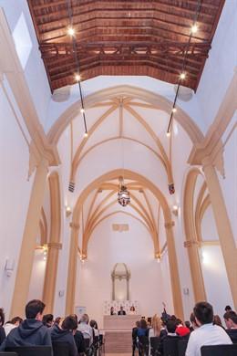 Málaga.- Unicaja.- Fundación Unicaja rehabilita la antigua capilla del Colegio Fernando de los Ríos como salón de actos