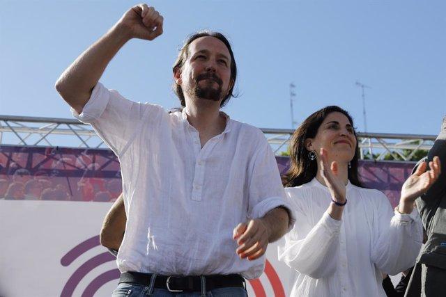 El secretario general de Podemos, Pablo Iglesias, participa en un encuentro de Unidas Podemos con candidatos autonómicos y municipales en Palma de Mallorca
