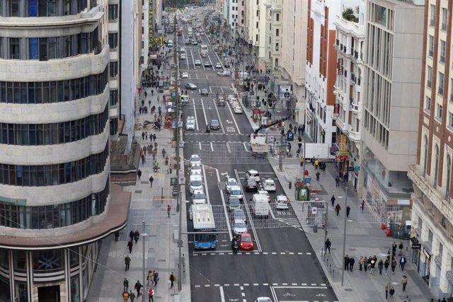 Imagen de Gran Vía tras la remodelación