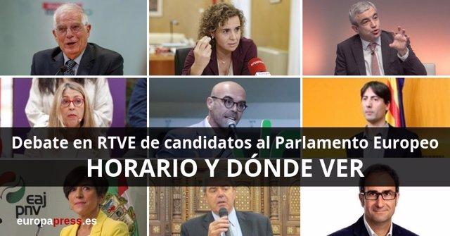 Horario y dónde ver el debate de candidatos al Parlamento Europeo en RTVE