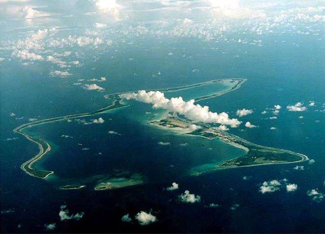 La isla de Diego García, en el archipiélago de Chagos