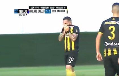 Giancarlo Maldonado, el futbolista venezolano que estalló en llanto tras marcar un gol