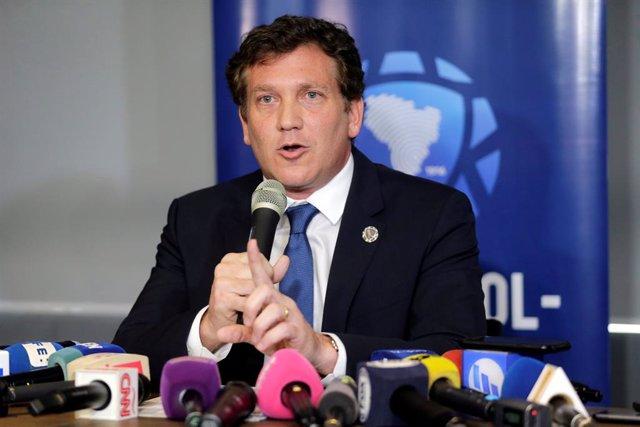 """Fútbol.- El presidente de Conmebol ve """"inviable"""" que la fase de grupos de la Copa Libertadores se juegue sin VAR"""