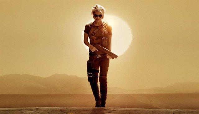 Sarah Connor protagoniza el póster de Terminator: Dark Fate antes del inminente tráiler
