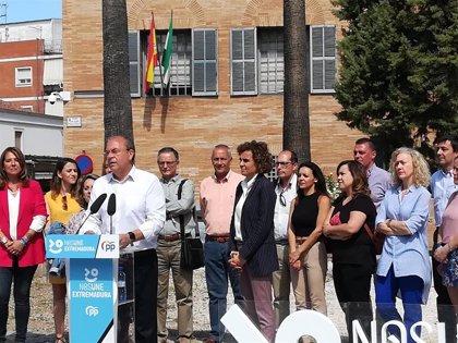 "Monago se compromete a impulsar la ""triple capitalidad"" cultural de Cáceres, Mérida y Badajoz a nivel europeo"