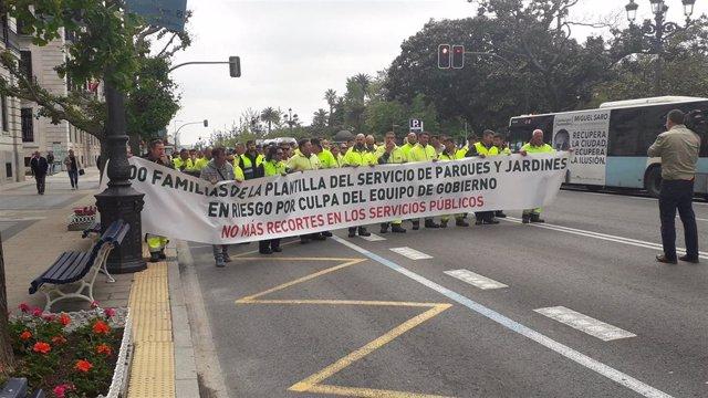 """Santander.- Plantilla de Parques y Jardines pide un nuevo pliego acorde a las """"necesidades reales"""" del servicio"""