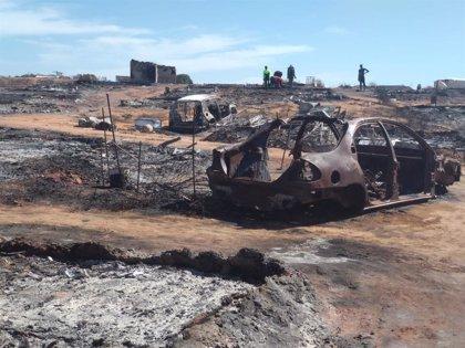 """Asociaciones afean """"falta de respuesta"""" de administraciones ante incendio de chabolas en Lepe (Huelva) y urgen recursos"""