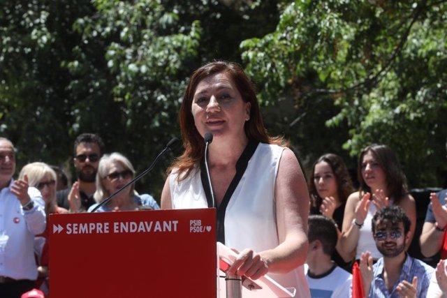 """26M.- Armengol: """"No Queremos La España Del Blanco Y Negro, No Queremos Irnos 40 Años Atrás"""""""