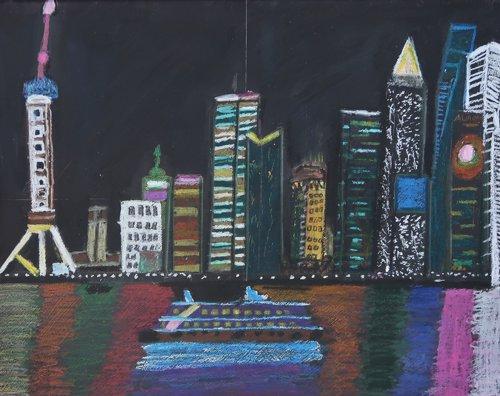 Cuadro pintado por un artista con síndrome de Down