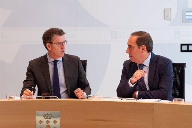 """AV.- Consello.- Feijóo apunta al Gobierno de Sánchez como responsable de la """"desaceleración"""" de la economía gallega"""