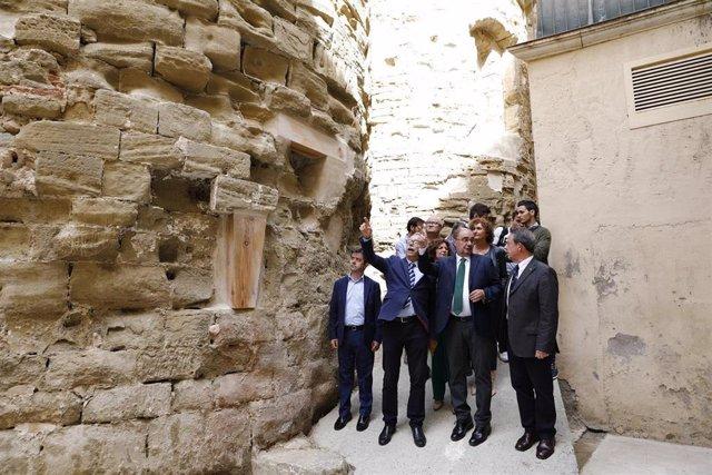 Lambán anuncia una nueva fase de actuaciones en el Monasterio de San Pedro el Viejo