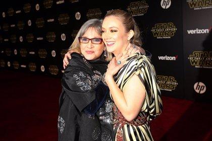 """Billie Lourd y Carrie Fisher, juntas en Star Wars 9: """"Quiero que mis hijos puedan verme con su abuela"""""""